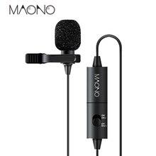 MAONO Lavalier mini Condenser Microphone for Canon Nikon DSLR Camcorde