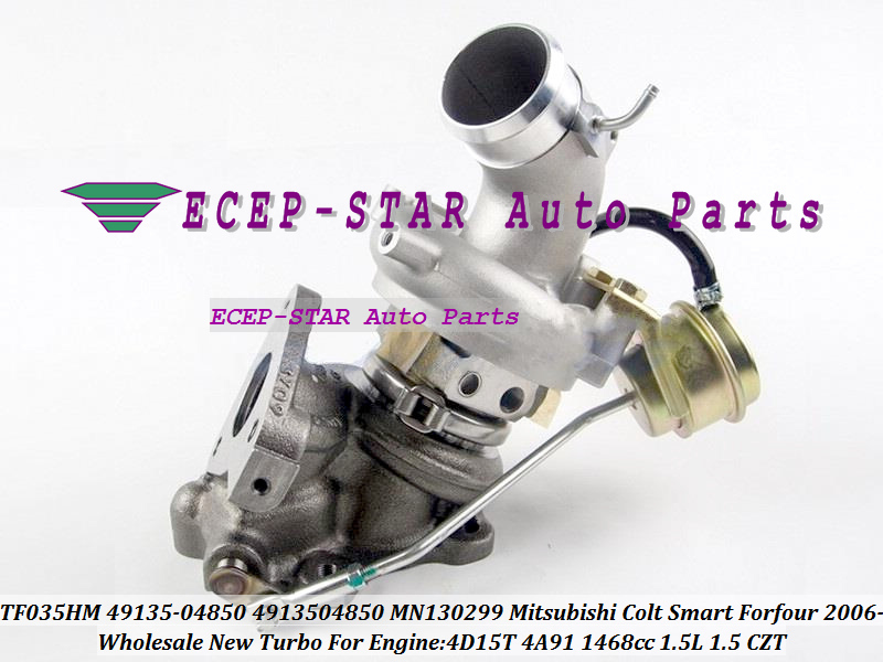 Turbo TF035HM TF035 49135-04850 4913504850 MN130299 Turbocharger For  Mitsubishi Colt Smart Forfour 2006- 4D15T 4A91 1 5L 1 5 CZT