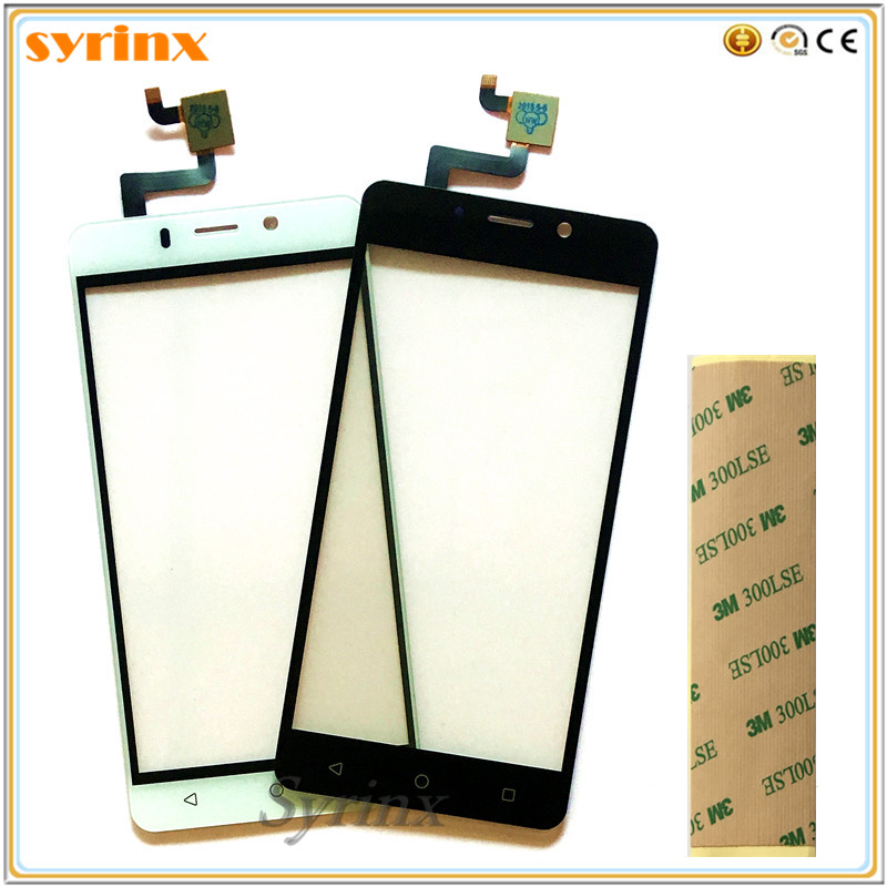 Syrinx 5.0 Inch Free 3M Tape Mobile Phone Touchscreen Panel Sensor For Tele2 Maxi LTE Touch Screen Digitizer Front Glass