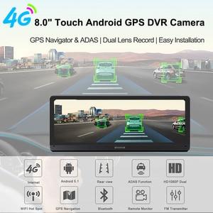 Image 2 - E ACE E14 voiture DVRs 4G Android 8.0 pouces Dash Cam 1080P enregistreur vidéo GPS Navigation ADAS Dashcam avec caméra de vue arrière Dvr automatique