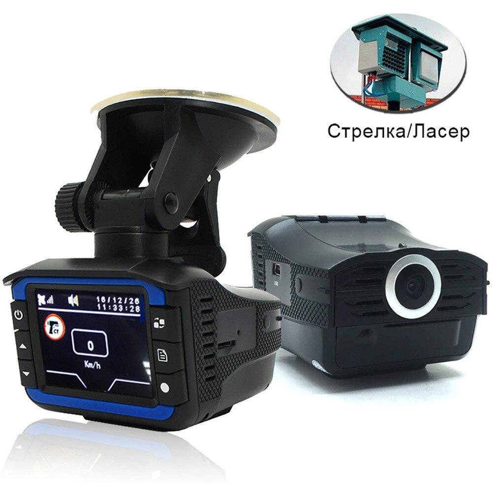 DVR de voiture avec détecteurs de Radar vitesse GPS 3 en 1 Signal Radar et infrastructure Gps mesure de vitesse fixe/débit voix russe