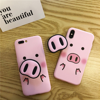 Cute Cartoon Pig Phone Case For iPhone 1