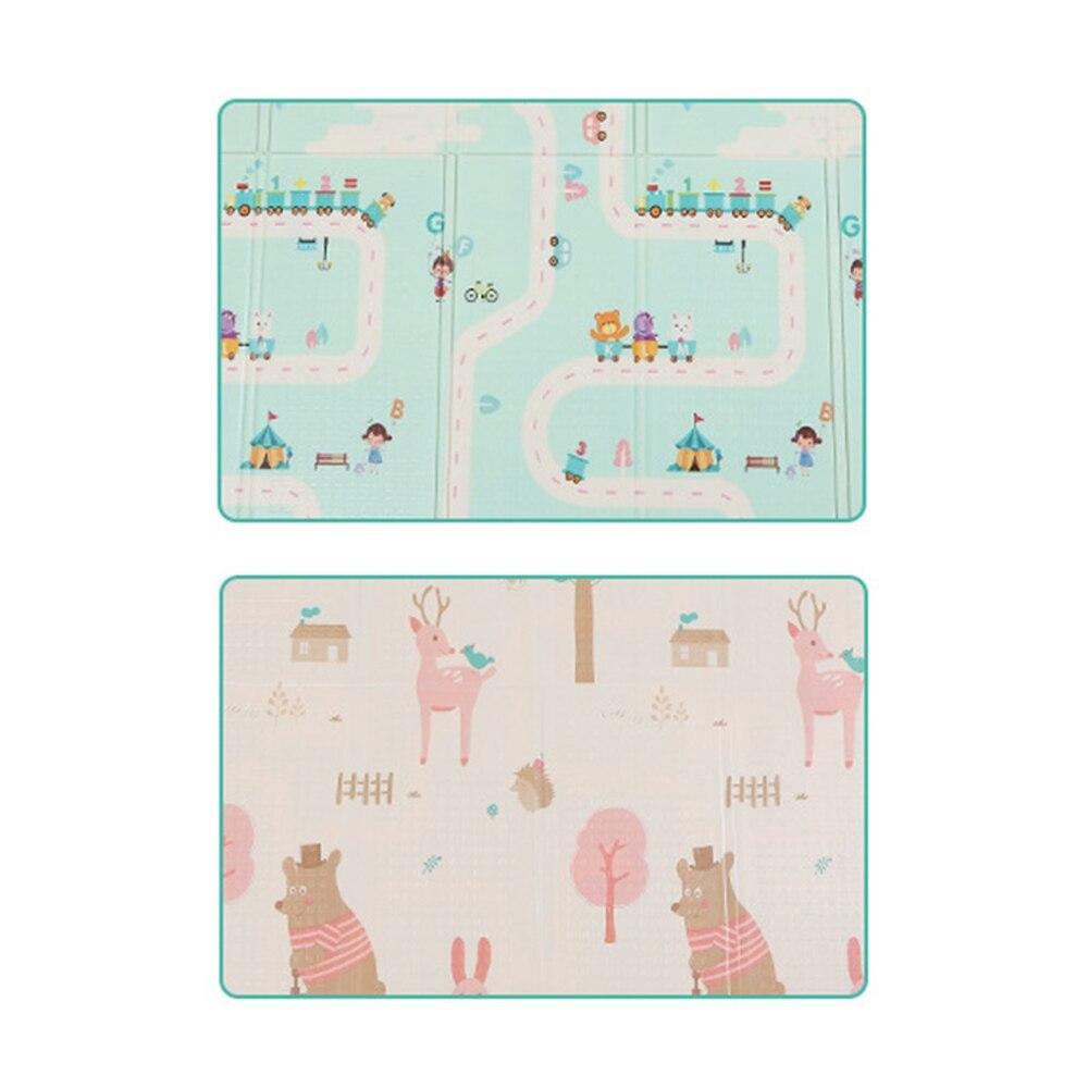180 cm * 200 cm infantile bébé pliable jouer Double face tapis épaissi maison bébé chambre épissage enfant tapis d'escalade - 5