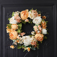40cm Fashion Flowers Headbands Wedding Garlands Floral Crown Hair Accessories for Bride Bridesmaids Women Wreath
