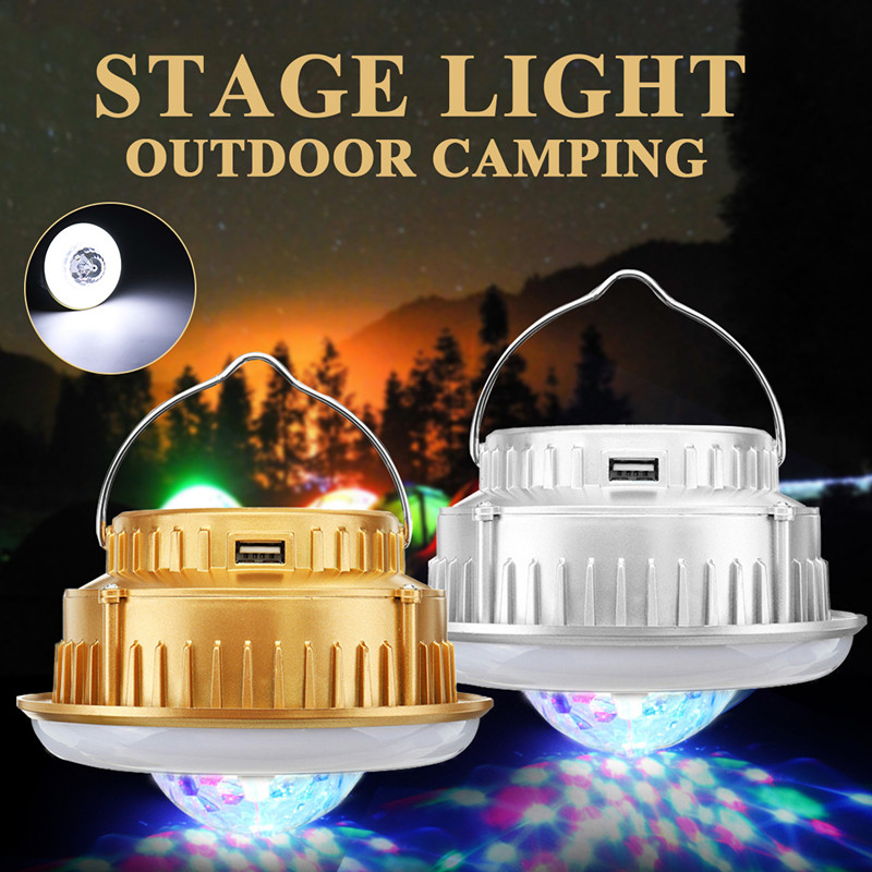 Smuxi 220V Outdoor Solar Camping Stage Light Emergency Hanging Lamp Lantern Tent Light Crystal Magic Ball Lamp For Hiking