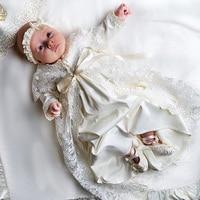 Pre Order Vintage Baptism Dress For Baby Girl Lace Baptism Gowns Girls Infant Baptism Gift Set
