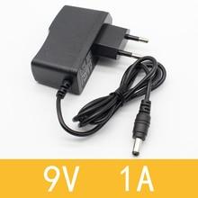1pcs 9v 1a dc power adapter eu 5 5mm 2 1mm interface Power Supply 100 240v