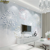 Beibehang Custom Photo Wallpaper Large Fresco Modern Nordic 3d 3d Ball Relief Dandelion TV Background Wall