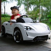 Children's electric car four wheel multi function remote control dual drive can sit children swing early education car