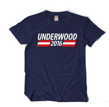 New Arrival House Of Cards UnderWood 2016 Printing Summer Style Short Sleeve Tee T Shirt For Men Cotton Plus Size
