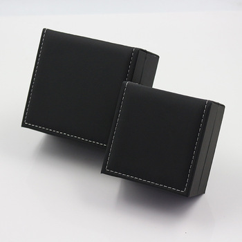 Fashion High Quality Bracelet Watch Box Faux Leather Square Jewelry Watch Case Display Gift Box with Pillow Cushion cross layered faux leather bracelet