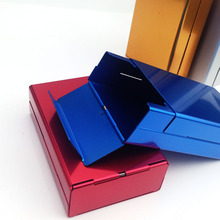 Cigarette Storage Box Case Automatic Push Open Aluminum Cigar Tobacco Holder 5colors
