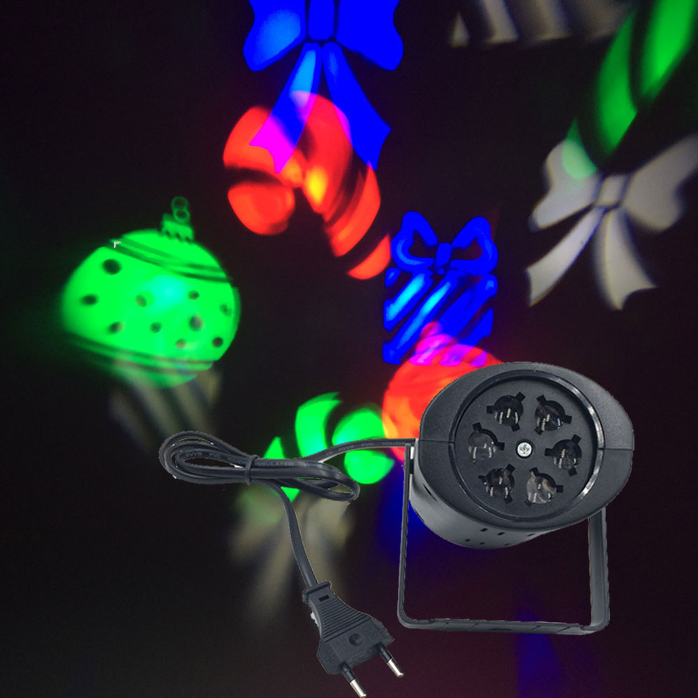New Christmas Stage Light LED Laser Lamp Snowflake Halloween Holiday Projector moving Pattern Lighting Party EU