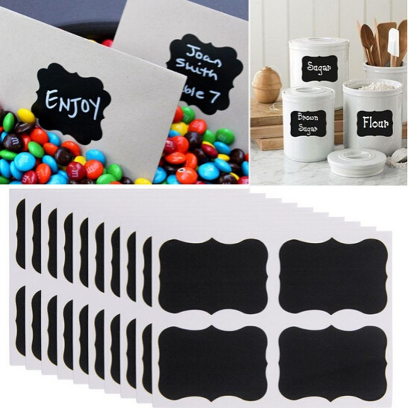 HTB19yS5KVXXXXczXFXXq6xXFXXXR - sticker labels for jars 36pcs/set Black Board Kitchen