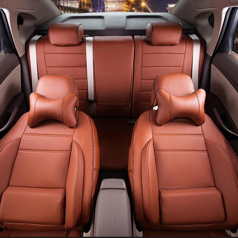 Hyundai New SantaFe oturacaqları üçün CARTAILOR PVC dəri - Avtomobil daxili aksesuarları - Fotoqrafiya 3