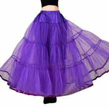 Long Petticoats For Wedding Dress Bridal Petticoat Purple Underskirt Hoepelrok Wedding Accessories Casual Skirt