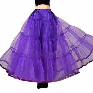 Image 1 - Long Petticoats For Wedding Dress Bridal Petticoat Purple Underskirt Hoepelrok Wedding Accessories Casual Skirt
