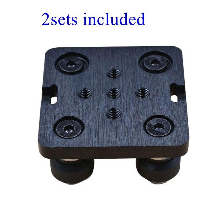 цена на 2sets Openbuilds Mini V Gantry Set V Gantry plate special slide plate F/ aluminum profiles V-slot Mini V Linear Actuator System