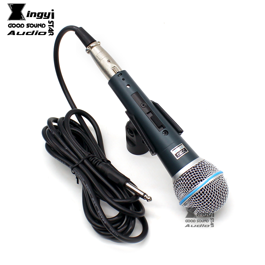 XINGYI STAR BT-58A Professional Switch Handheld Vocal Dynamic Wired Microphone Karaoke Mic Mike For BETA58A Microfone Microfono