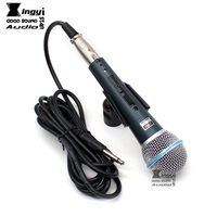 Free Shipping 545SD Professional Cardioid Dynamic Wired Microphone Karaoke Mic Instrument Vocal 545SD LC SM57 NO