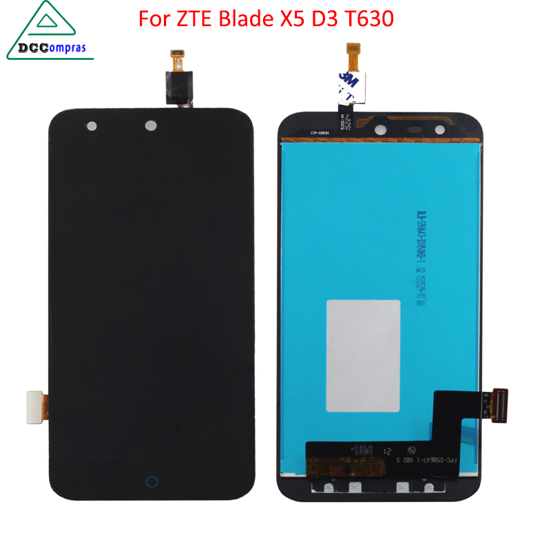 High Quality For <font><b>ZTE</b></font> Blade X5/Blade D3 <font><b>T630</b></font> LCD Display Touch Screen Digitizer Assembly 100% Tested Repair Phone Parts FreeTools image