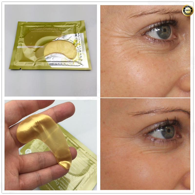 2pcs=1pack High Quality Gold Crystal Collagen Eye Mask Hotsale Eye Patches Under Eeye Dark Circle Remover Colageno(China)