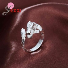 Giemi New Created 925 Sterling Silver Dragon Finger Rings for Women Unique Open Men Jewelry Wholesale Adjustable Bague for Party