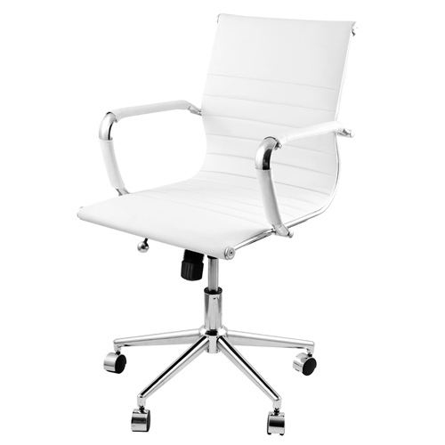Eames Replica Pu Leather Executive Designer Office Chair White