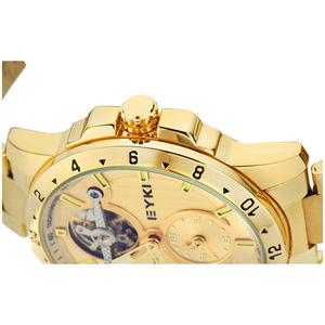 Image 4 - Eyki marque métal creux volant mécanique montres mode Fine luxe en acier inoxydable bracelet de montre hommes athlétique montres bijoux
