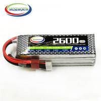 MOSEWORTH 4s RC Lipo battery 14.8V 2600mAh 40C Max 80C for rc FPV helicopters quadcopter boat car airplane Li Po batteria 4s