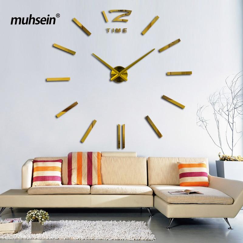2019muhsein gjilpërë argjendi dhe tabelë për afërsinë e numrit të orës DIY orët e murit të dekorimit në shtëpi Ora e murit që plotëson dhomën