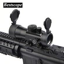 B бренд 2×40 зеленый красный точечный прицел тактическая оптика Riflescope Fit Picatinny Rail Mount 20 мм 11 мм винтовки для охоты