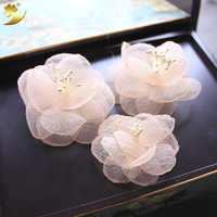 Small Flower Hair Clips For Women Wedding Accessories Hair Ornaments Bride Hairgrips Simple Handmade Floral Barrette Hairclips