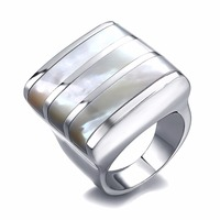Vintage Silver Ring For Women Men Jewelry Fashion Cubic Zirconia Couple Rings Geometry Strip Cool Design
