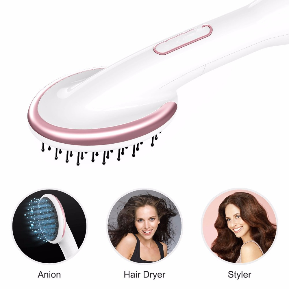 Electric Hot Air dry Paddle Brush Comb Hair blow Dryer Negative Ion Hair Straightener Styler curling iron curler styling tools novus electric hair straightener iron brush ceramic hair curler dual use straight and curl comb air bangs women styling tools
