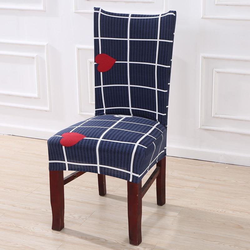 Spandex Elastic Plant Flower Printing Pattern Chair Covers