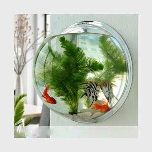 Высококачественная акриловая чаша для рыб, настенный аквариум для рыб, аквариумный бак для рыб, товары для водных питомцев, продукция для до...