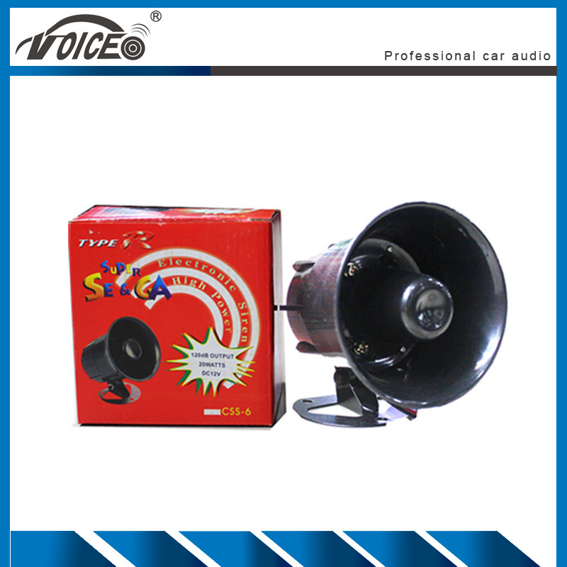 Motorcycle Car Auto Truck Loud Air Horn 12V 110dB Siren Sound Speaker Megaphone Alarm Security Horn Warning Alarm Loudspeaker