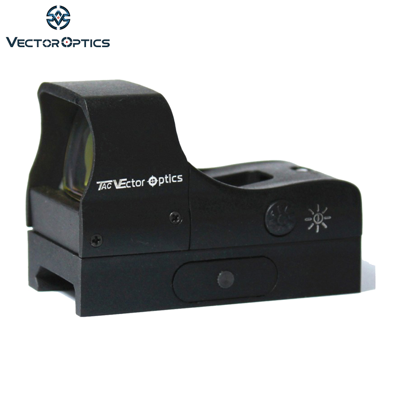 Vector Optics Predator 1x28x20 Tactical Reflex 12GA Open Shotgun Red Dot Hunting Sight 2.4 Inch Length 4 MOA Dot ShockProof цена