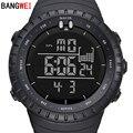 Hombres de la manera LED Digital Relojes Deportivos BANGWEI S Choque Reloj de Buceo Militar Hombres reloj de Pulsera Relogio masculino Impermeable Al Aire Libre