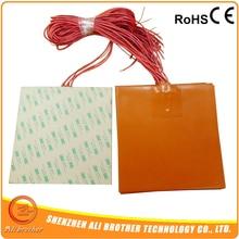 Гибкий силиконовый нагревательный элемент элементы 300x300 мм 300w@ 24 v, 100 к термистор, клейкую ленту 3м 3D-принтеры нагреватель