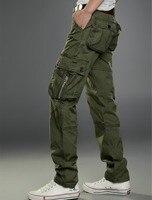 Mens Cargo Pants with Many Pockets Sweatpants Men Plus Size Jogger Pants Man Trouser Long Pantalon Homme Black Khaki Green