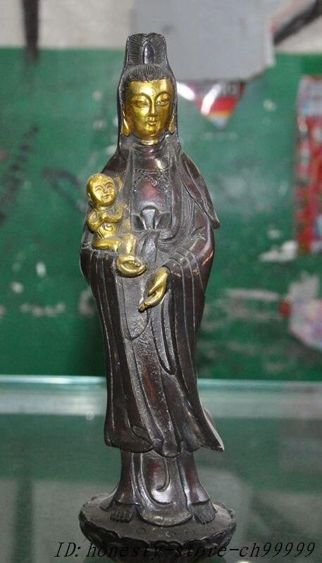 Crafts Statue China Buddhism Joss bronze gilt Guanyin Boy Kwan-yin Bodhisattva Goddess statue halloweenCrafts Statue China Buddhism Joss bronze gilt Guanyin Boy Kwan-yin Bodhisattva Goddess statue halloween