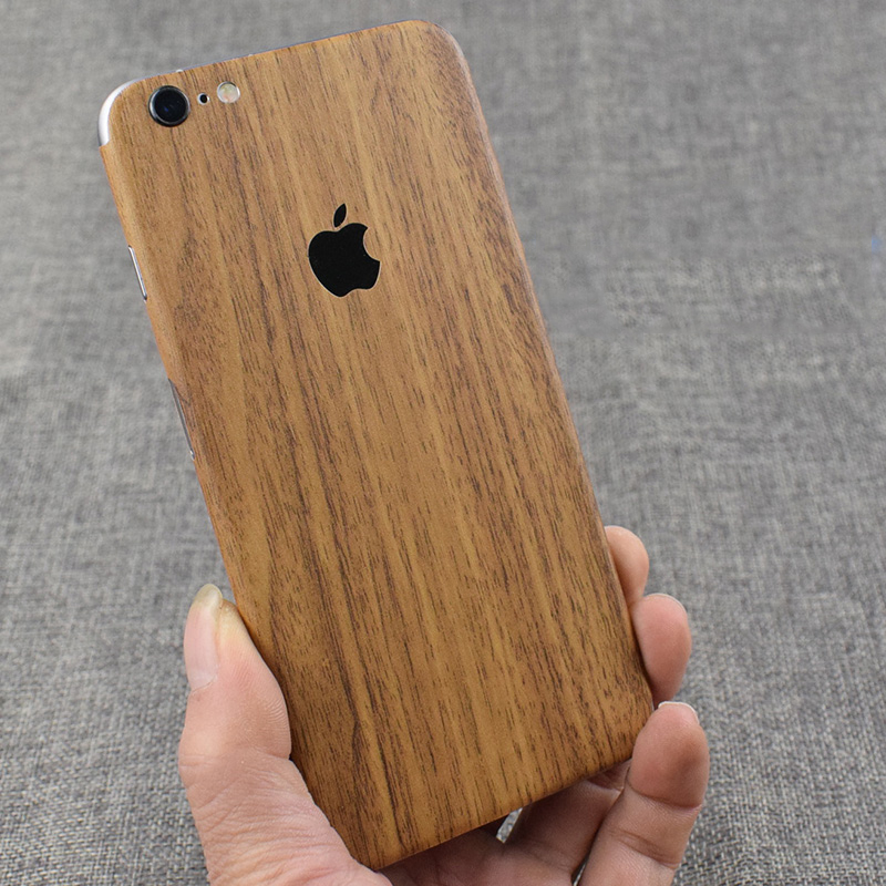 Wood Grain Decorative For Apple iPhone 6 6S Plus Mobile Phone Protector For iPhone6 <font><b>iPhone6s</b></font> Back <font><b>Film</b></font> Stickers image