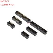 5 шт. SMT 10/20 Вт, 30 Вт, 40 PIN 1,27 мм pitch мужской разъем прямой idc заголовки коробки разъем PCB с двойным рядом камней SMD 10 P/20 P/40 P DC3 заголовка