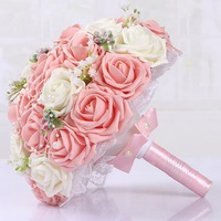 2018 New Fashion Wedding Bouquet Bridal Flowers Wedding Flowers Bridal Bouquets Bridesmaid Bouquet 30 Pcs Artificial Foam Flower