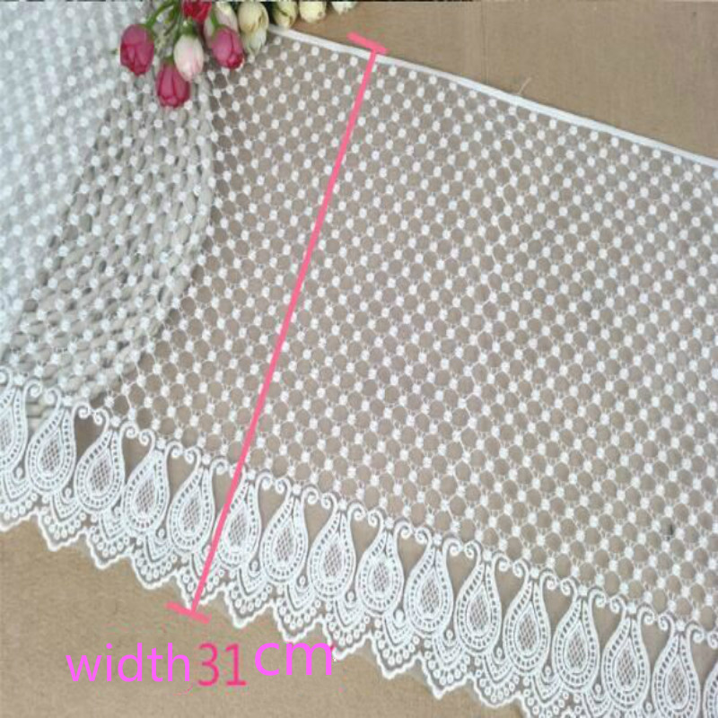 1yard 31cm Width Organza Embroidered Sewing Craft Lace Trim DIY Garment & Home Decoration