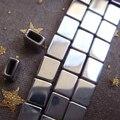 2017 HOT New 5x6mm Silver Hematite Rectangle Box Loose Beads 65pcs/lot Free Shipping