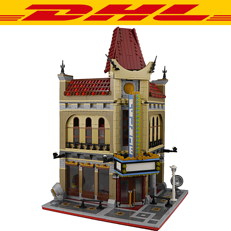 2018 New 2354Pcs City Street Figures Palace Cinema Model Building Kits Blocks Bricks Toy For Children Gift Compatible With 10232