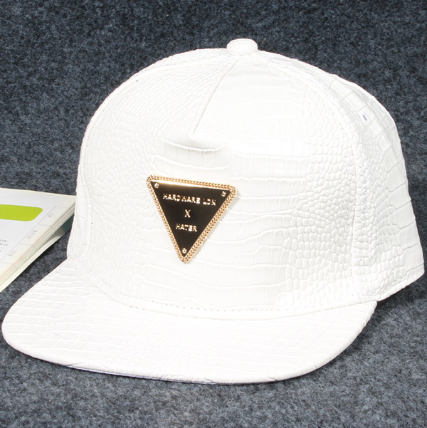 78c52886 Fashion Snapback Baseball Caps Leather Brand Hats With Diamond Gold  Rhinestone Triangle Logo Sports hip hop Rap men women gift-in Baseball Caps  from Apparel ...